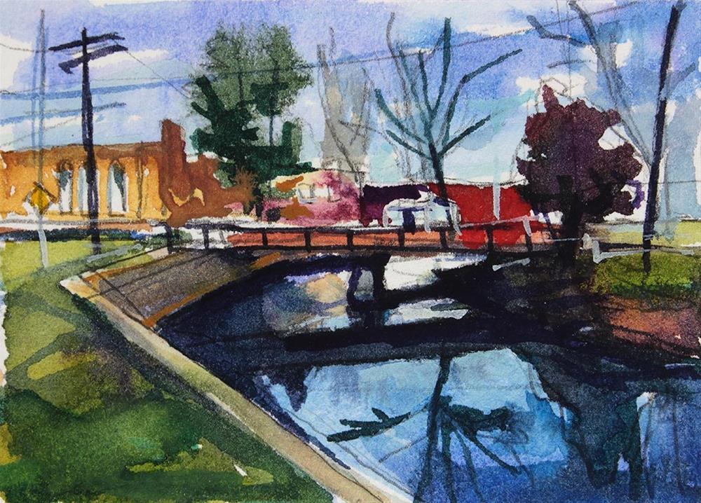 """""""Island Park Entrance"""" original fine art by Chris Breier"""