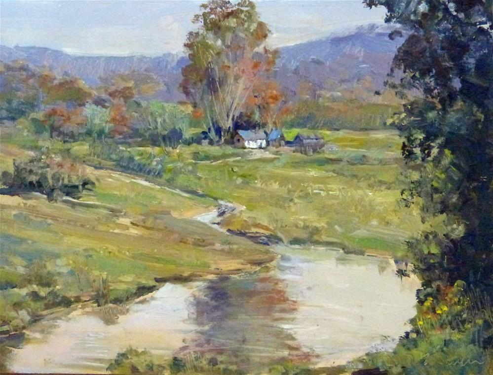 """Babbling Brook"" original fine art by Kirk Miller"