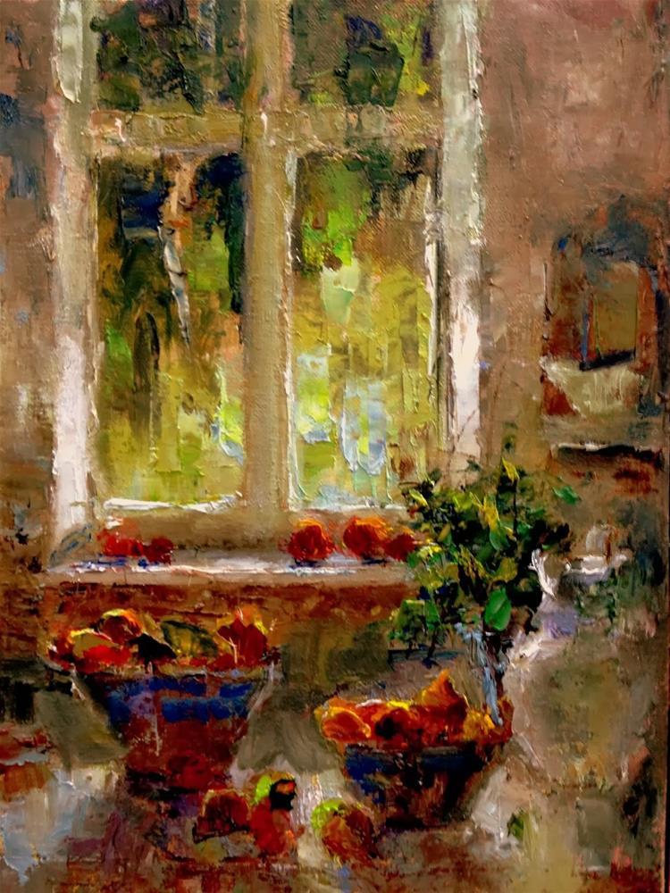 """Window Study"" original fine art by Julie Ford Oliver"