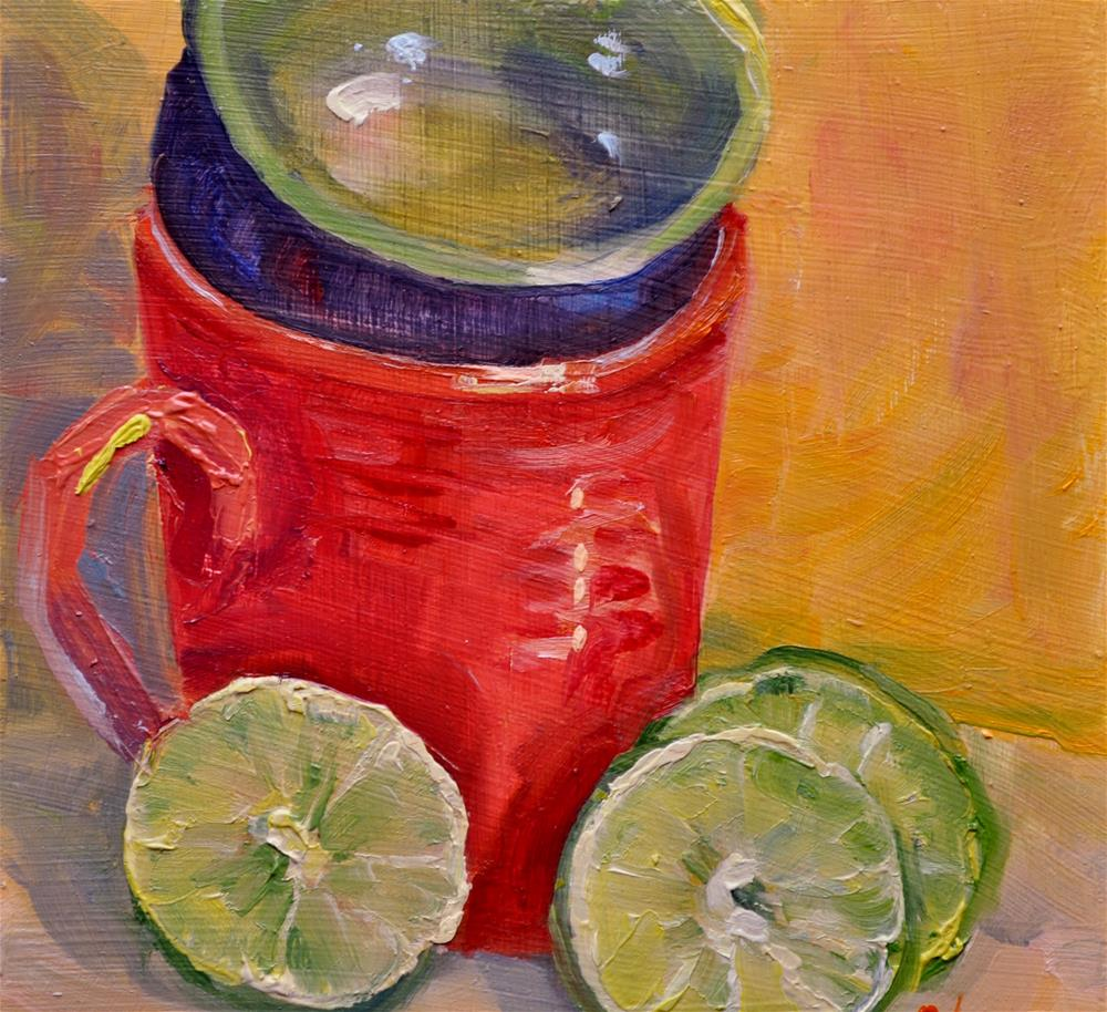 """Limes"" original fine art by Catherine Crookston"