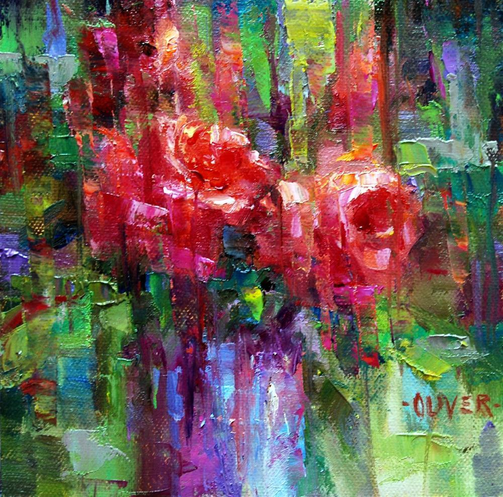 """Fracturing the Roses"" original fine art by Julie Ford Oliver"