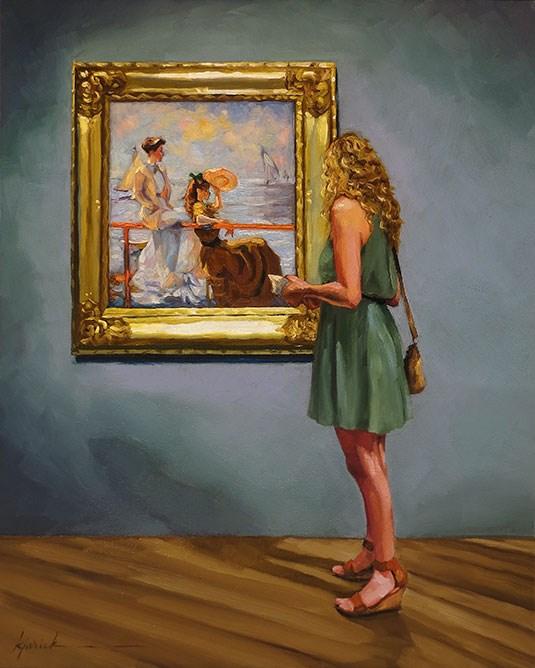 """Three's a Crowd"" original fine art by Karin Jurick"