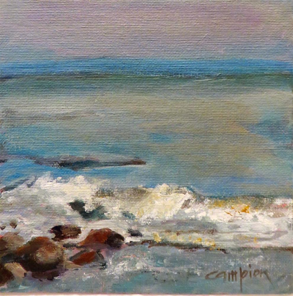 """573 Plymouth Beach, MA"" original fine art by Diane Campion"
