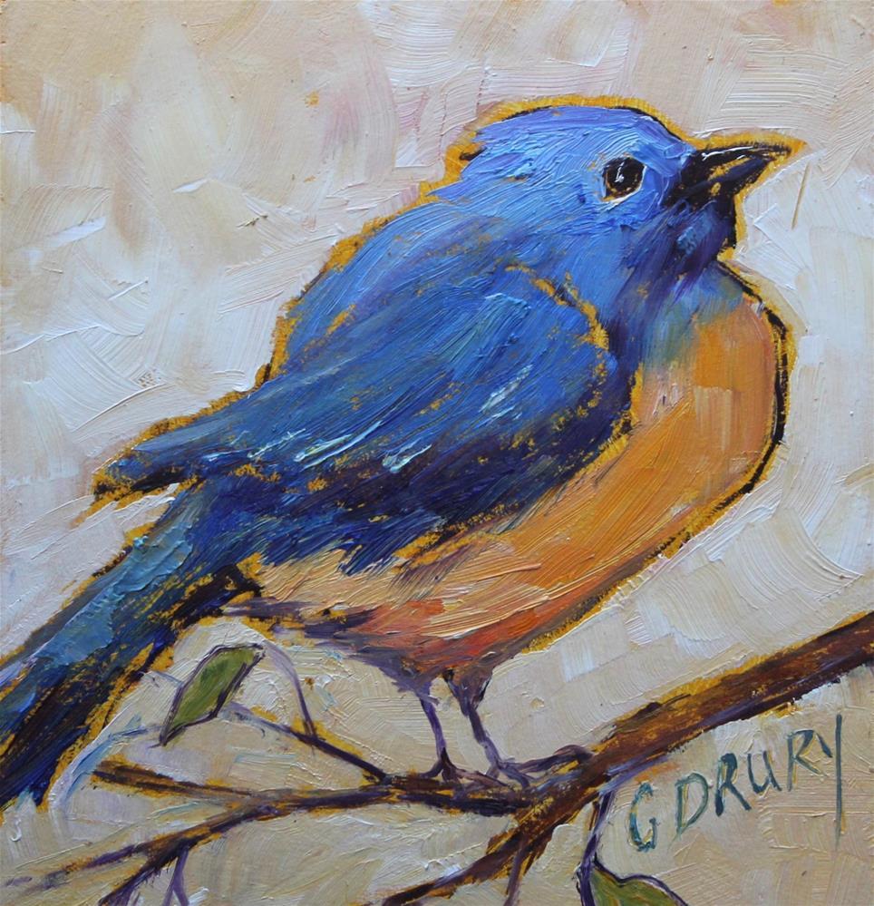 """""""Bluebird"""" original fine art by Colleen Drury"""