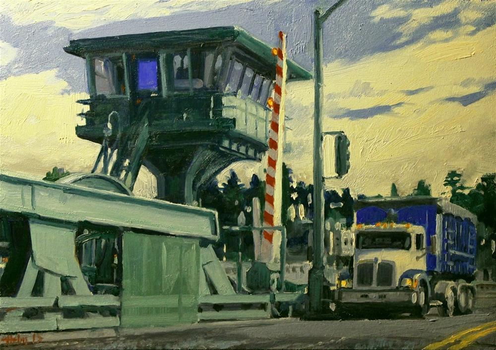 """Drawbridge"" original fine art by Ski Holm"