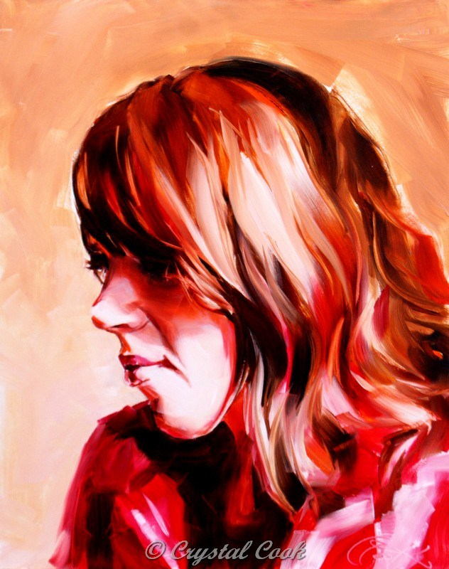 """""""Ambiguity in Red"""" original fine art by Crystal Cook"""