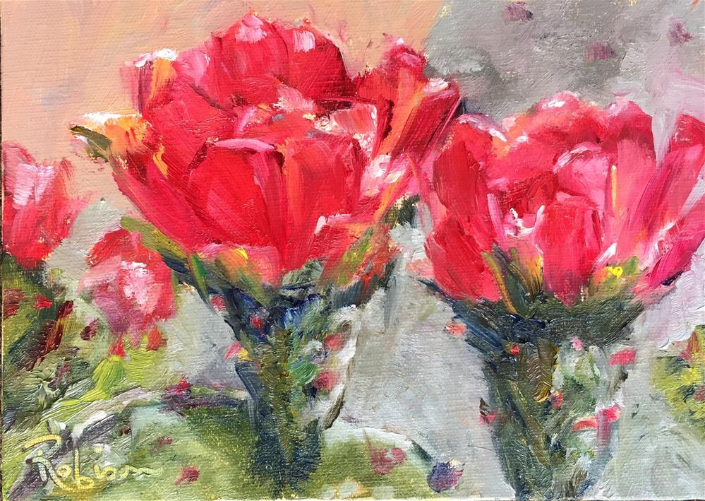 """Prickly Pair"" original fine art by Renee Robison"