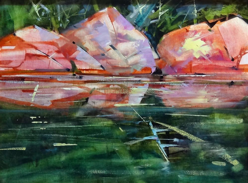 """""""Rock Reflection"""" original fine art by Brian Buckrell"""