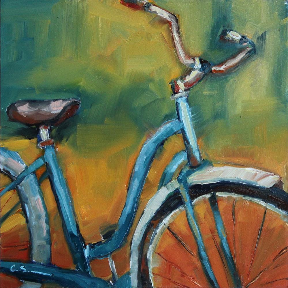 """""""Blue Cruiser"""" original fine art by Corinne Slusser"""