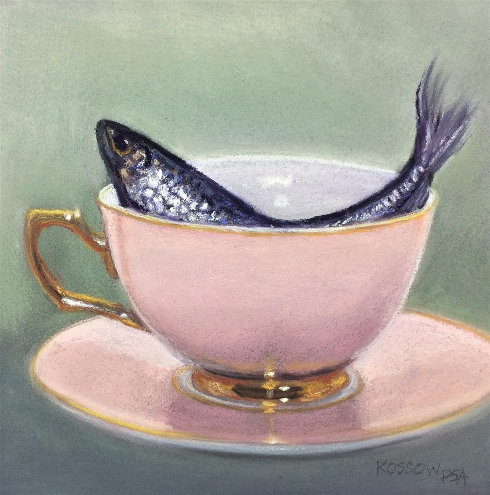 """""""Tempest in a Teacup"""" original fine art by Cristine Kossow"""