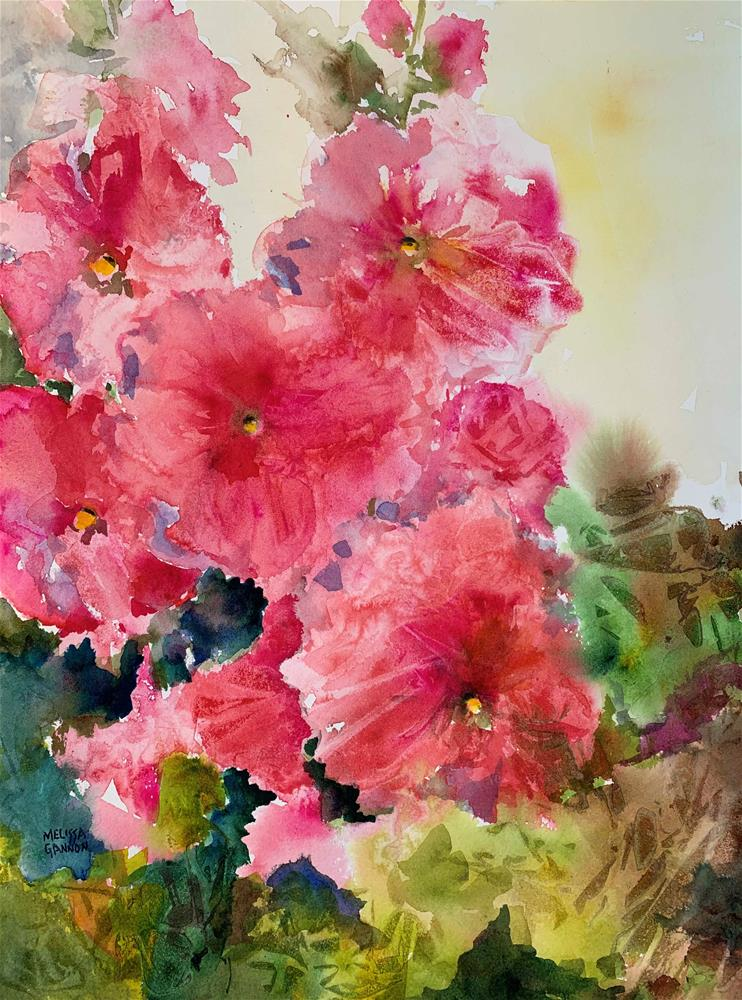 """Holllyhock Ruffles"" original fine art by Melissa Gannon"