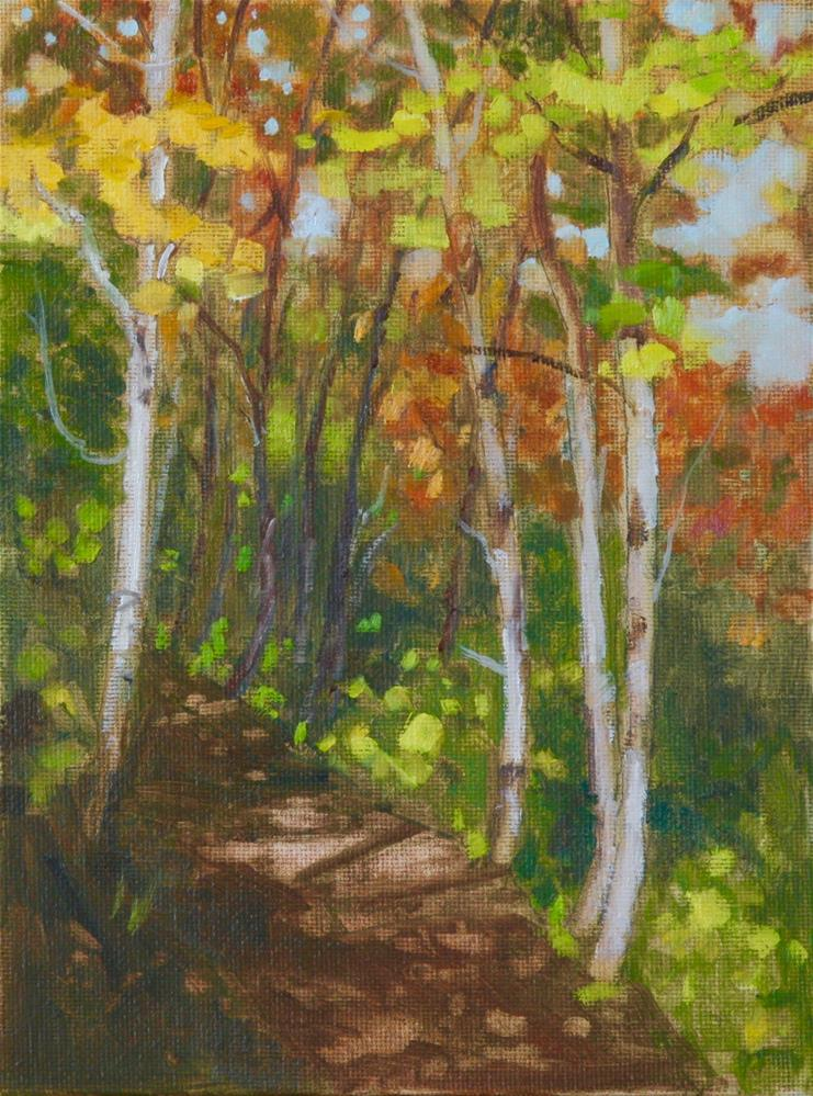 """Autumn Highlights"" original fine art by Carol Granger"