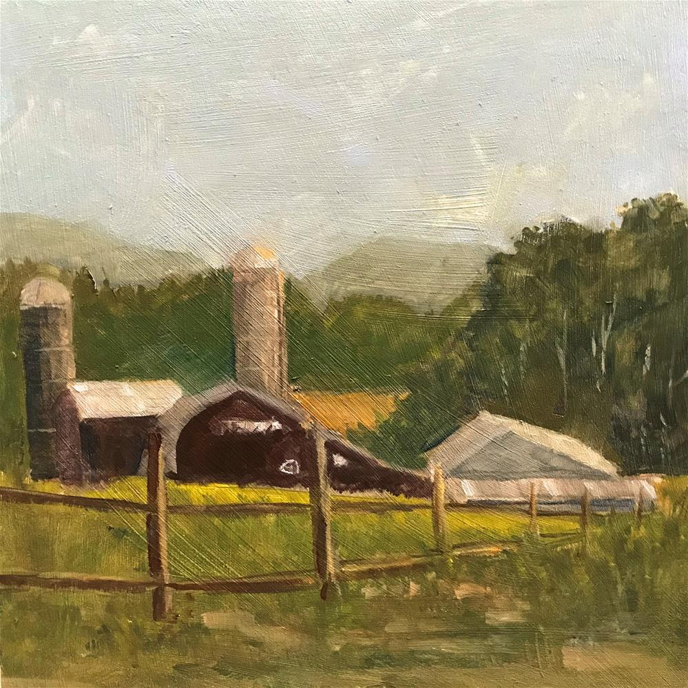 """farm in Deposit, N.Y."" original fine art by Betty Argiros"