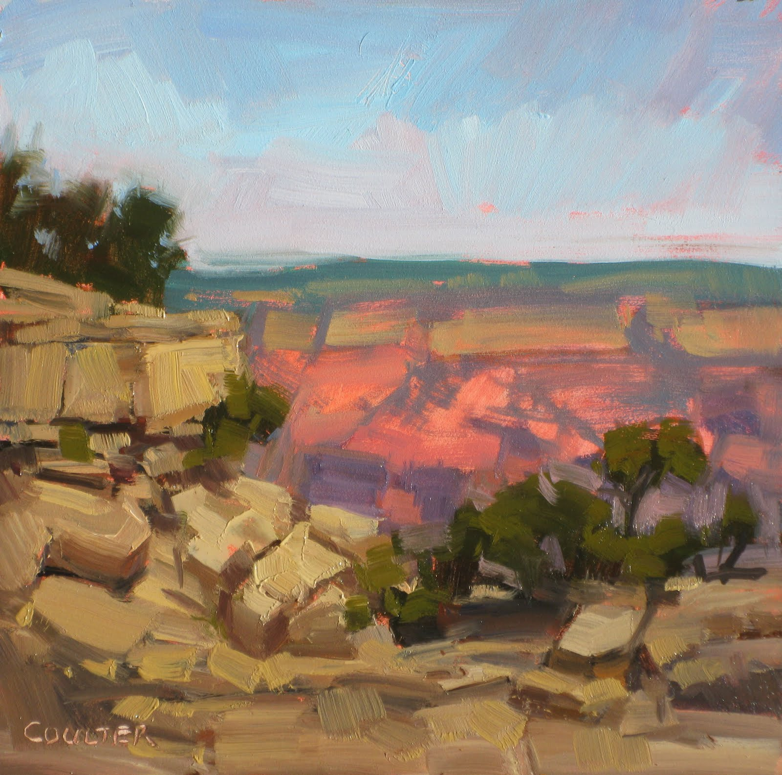 """""""CANYON MORNING"""" original fine art by James Coulter"""