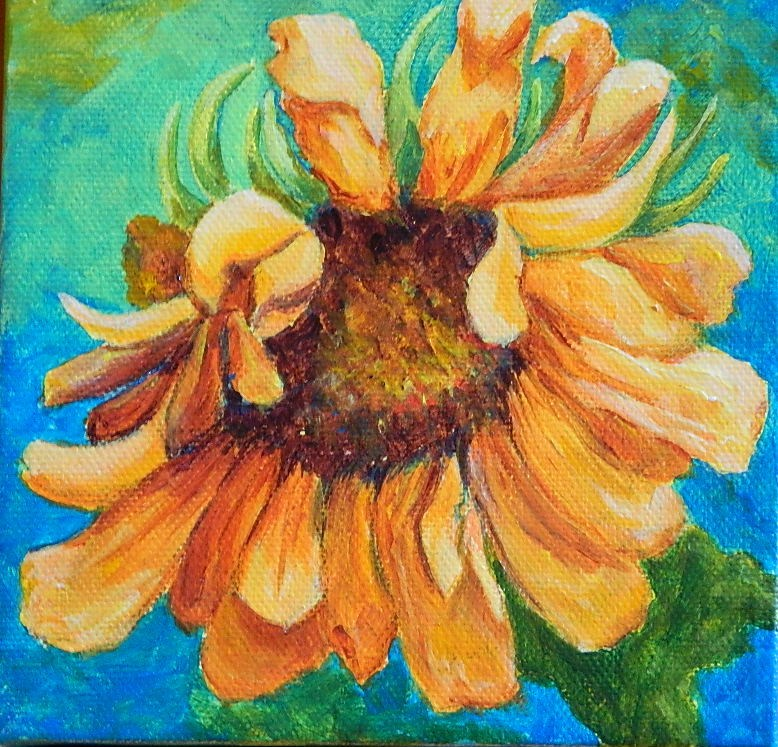 """Sunflower 2"" original fine art by Gloria Urban"