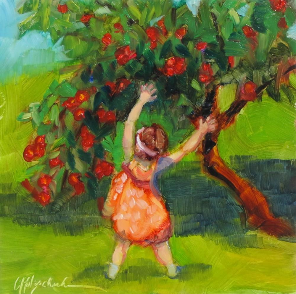 """""""Dancing With the Apple Trees"""" original fine art by Christine Holzschuh"""