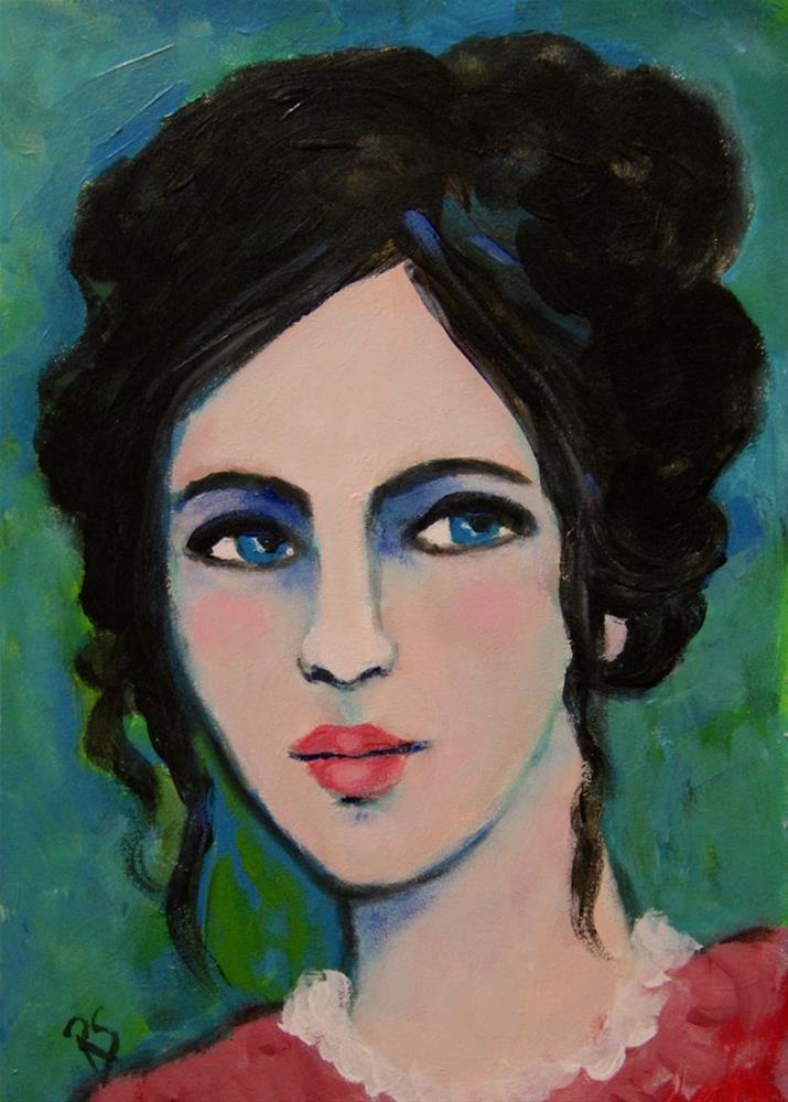 """Saskia"" original fine art by Roberta Schmidt"
