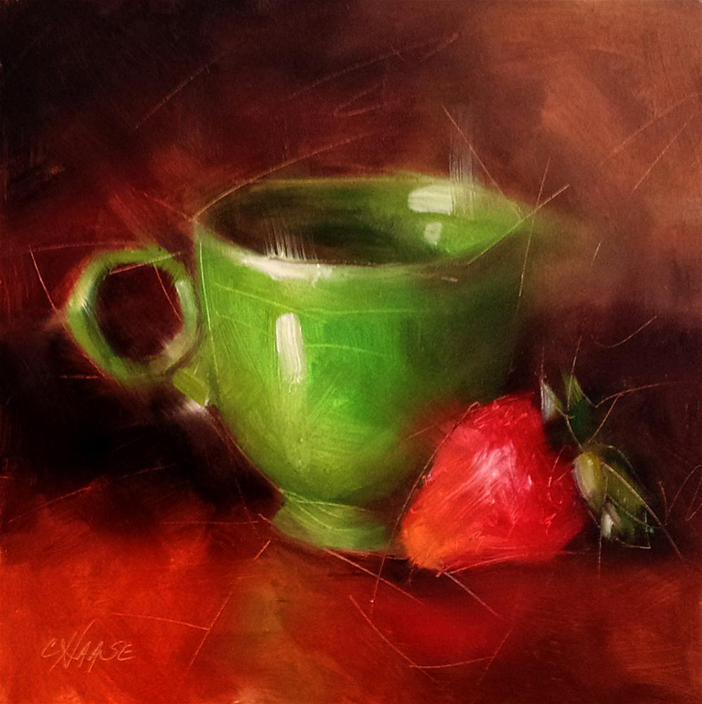 """Green Cup"" original fine art by Cindy Haase"