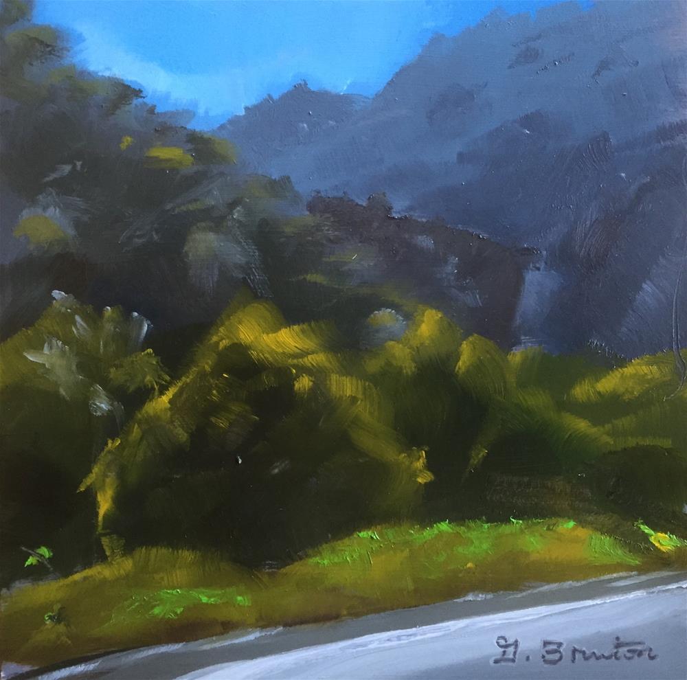 """Las Virgenes Canyon"" original fine art by Gary Bruton"