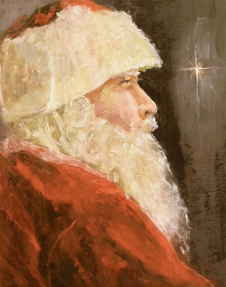 """St. Nicholas"" original fine art by Pamela Sweet"
