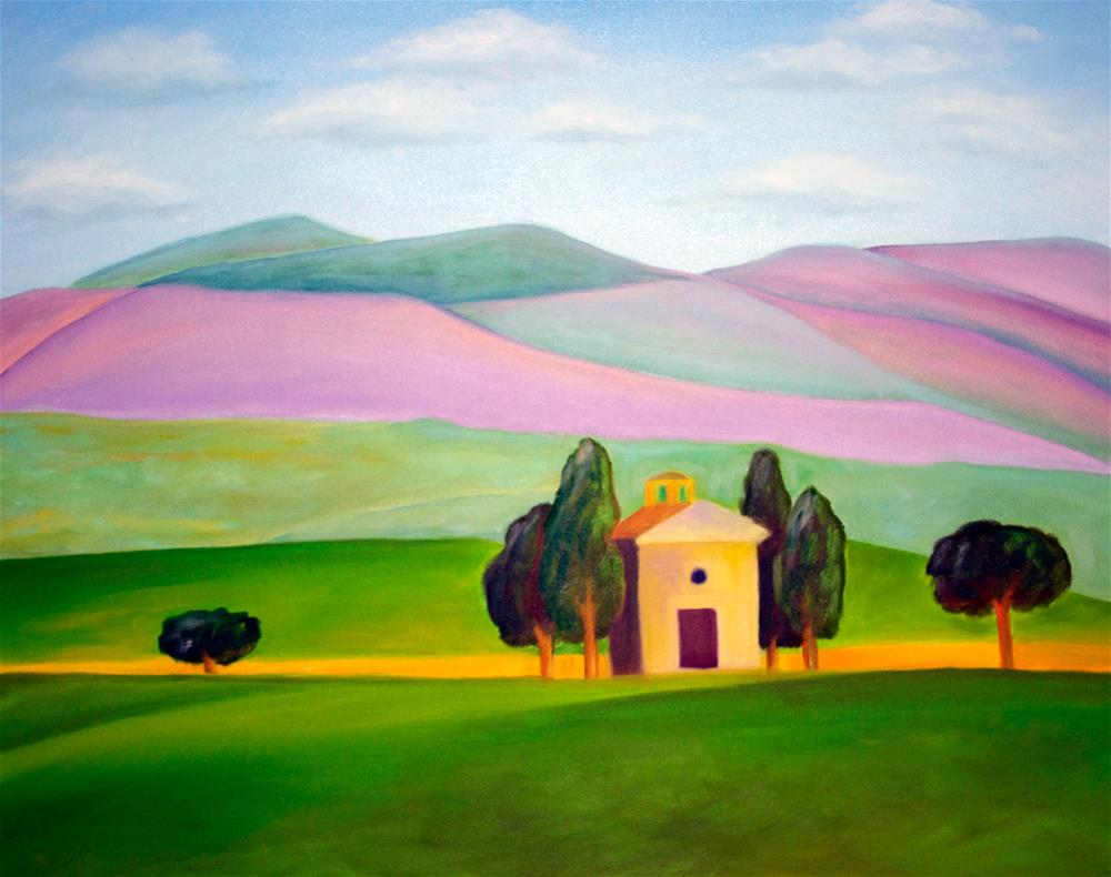 """Tuscan Shelter"" original fine art by Susan Bertocci"