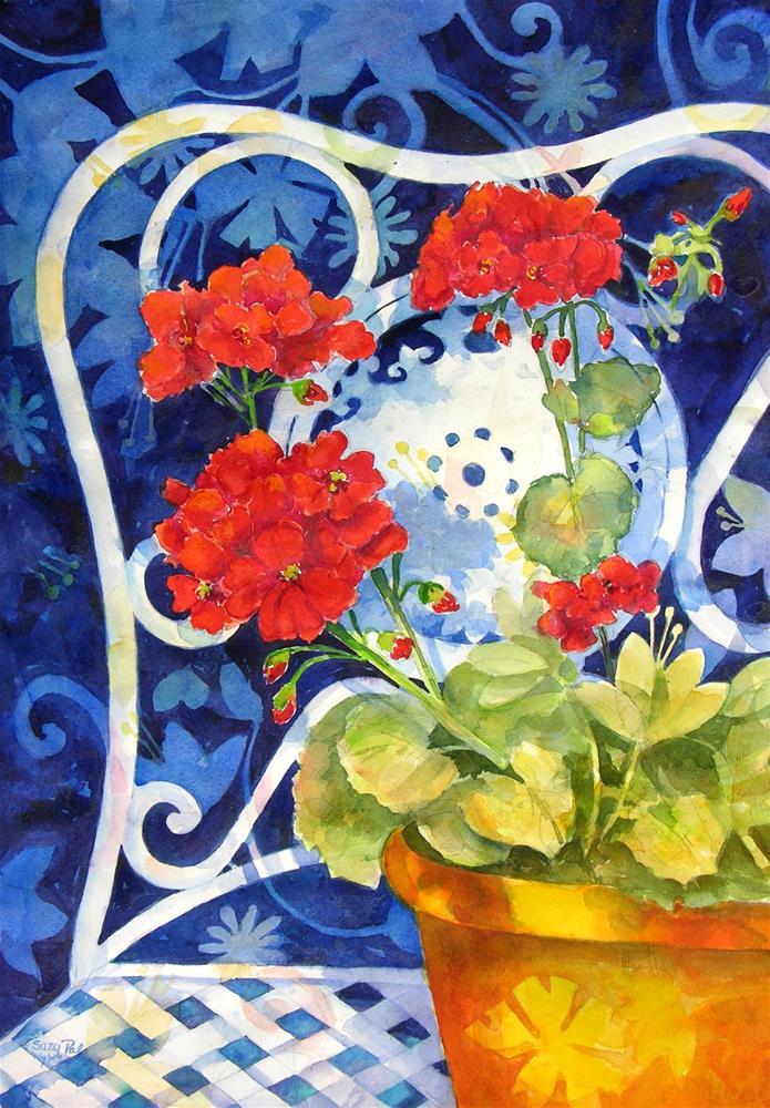 """My Garden Chair"" original fine art by Suzy 'Pal' Powell"