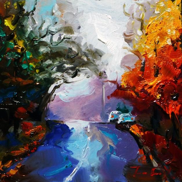 """""""autumn day"""" original fine art by Jurij Frey"""