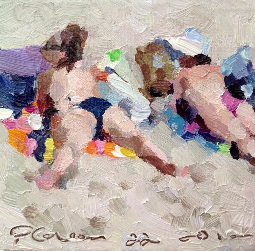"""Beach Bums"" original fine art by Paula Howson-Green"