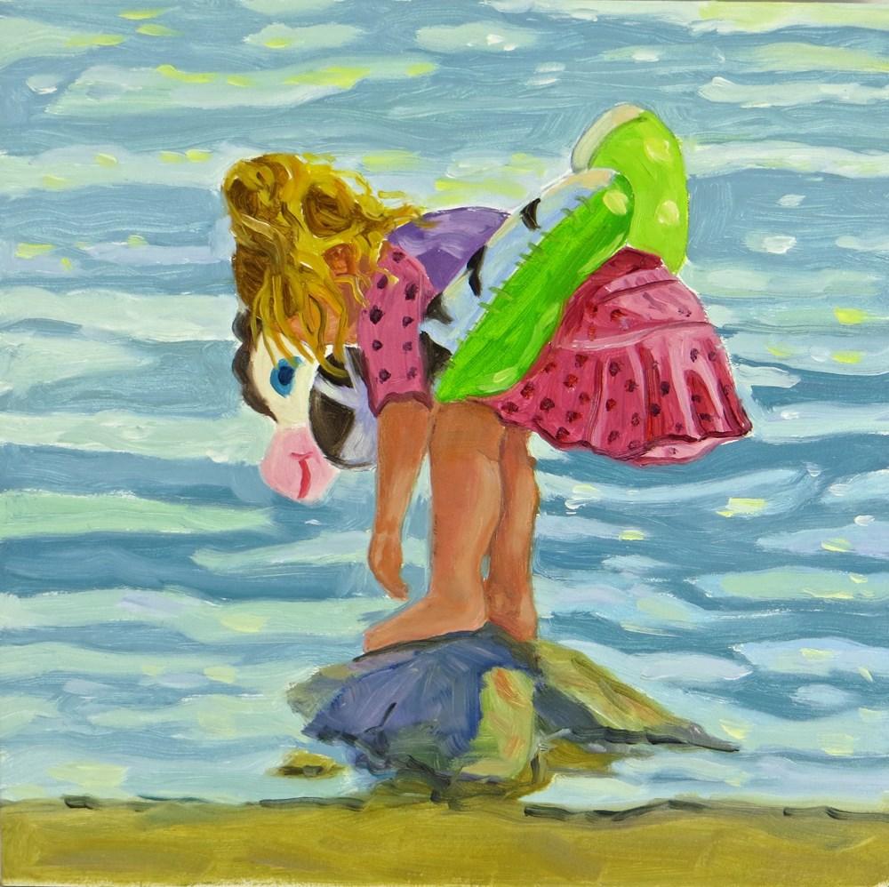 """""""Pink Swimsuit"""" original fine art by Rhett Regina Owings"""