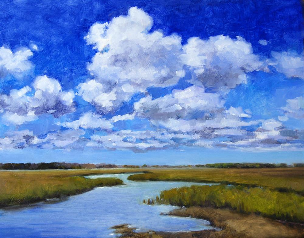 """""""Clouds on the Marsh"""" original fine art by Michel McNinch"""