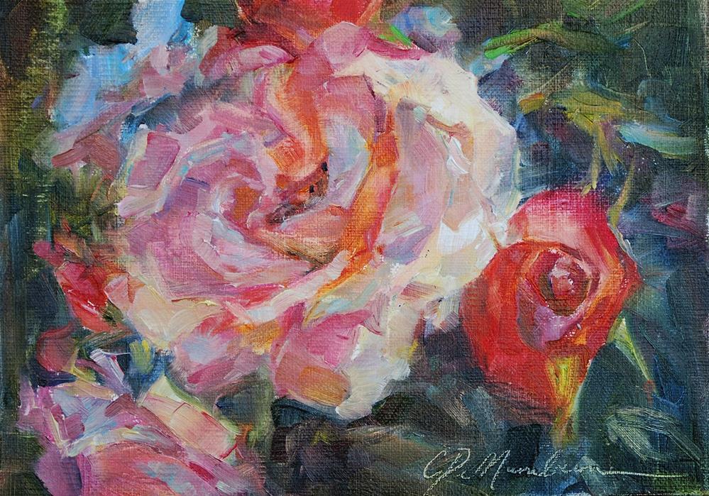 """""""Everthing is Coming Up Roses"""" original fine art by Carol DeMumbrum"""