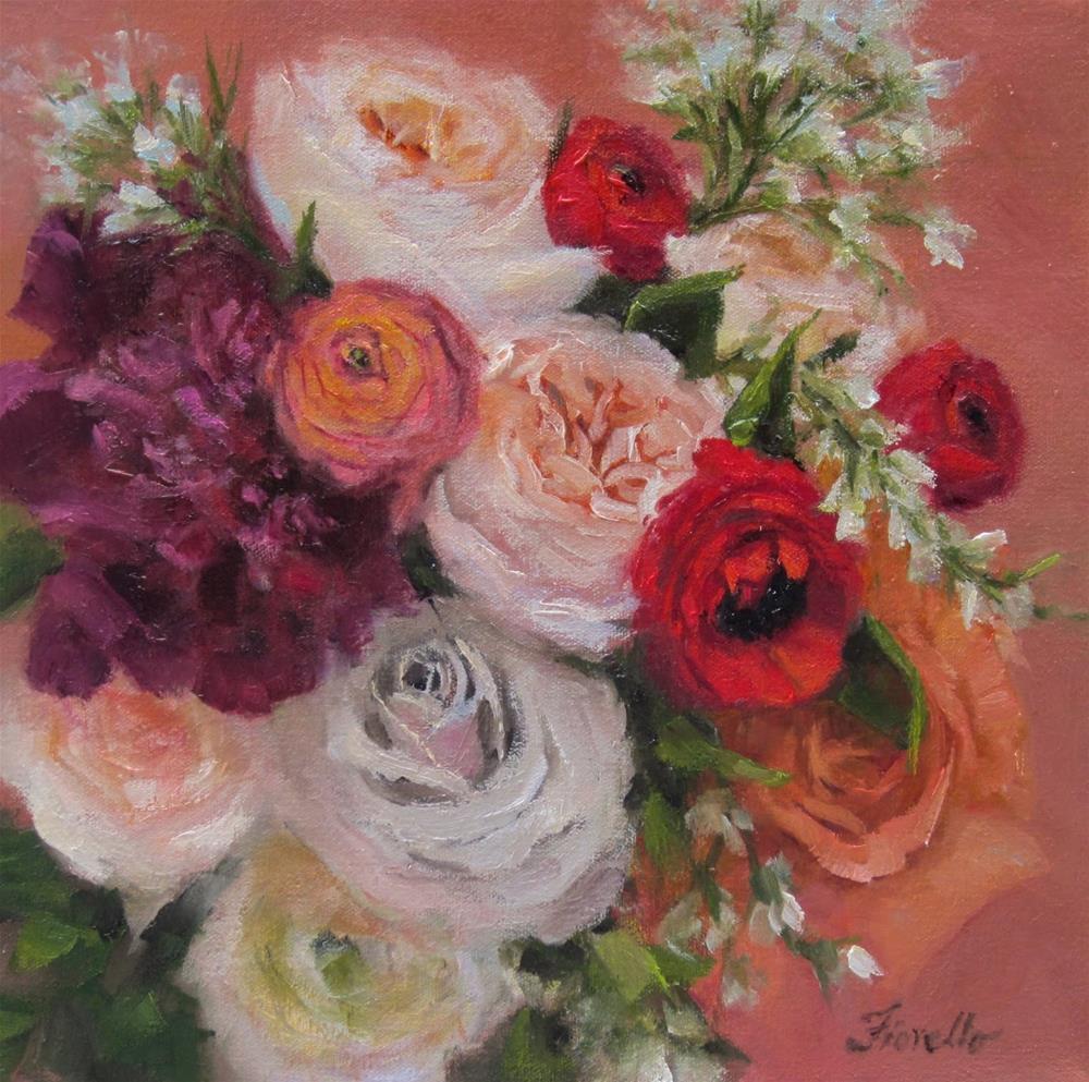 """""""Bridal Bouquet Paintings"""" original fine art by Pat Fiorello"""