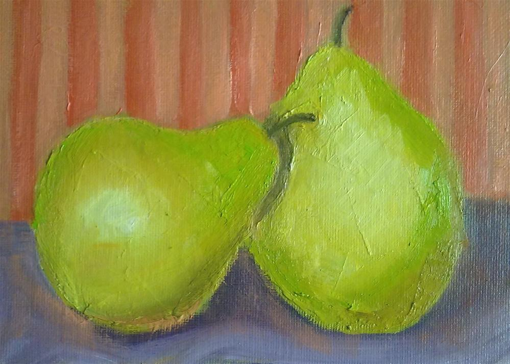 """A pair of pears"" original fine art by Gerri Obrecht"