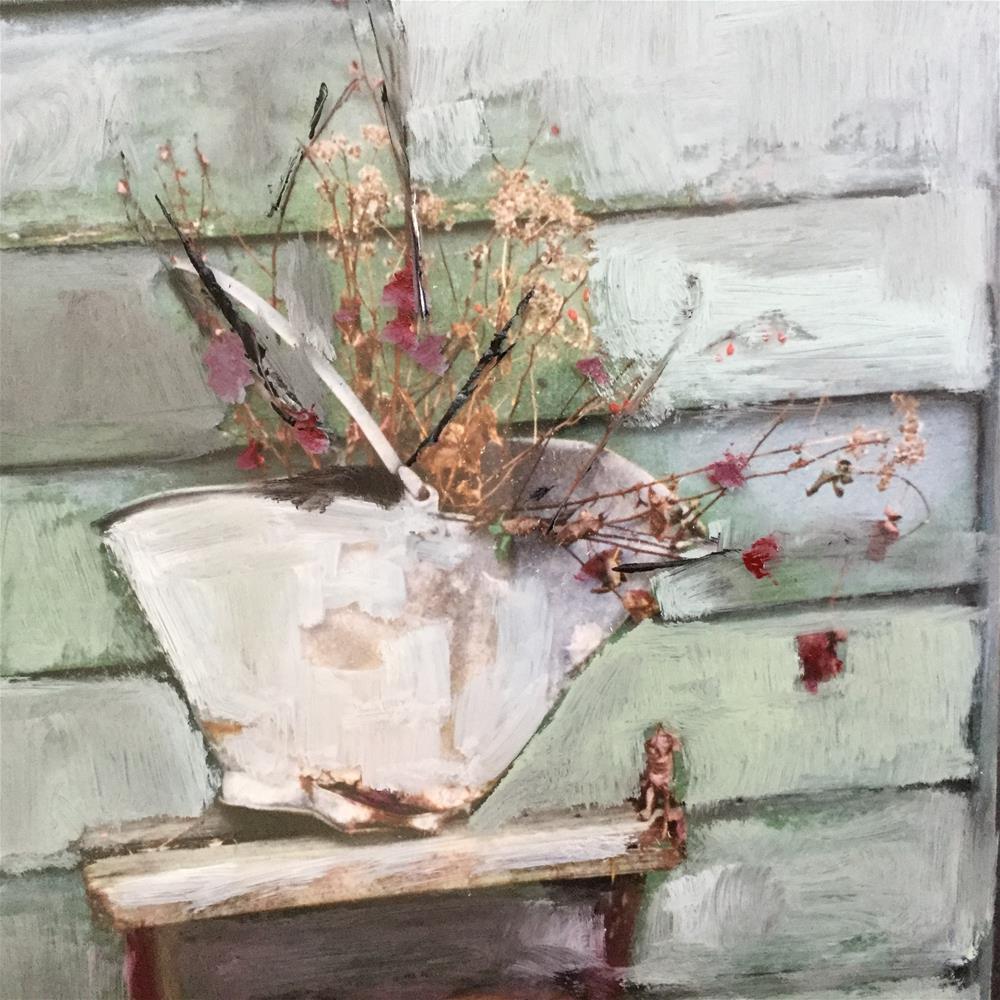 """Bouquet at Henny's"" original fine art by pamela kish"
