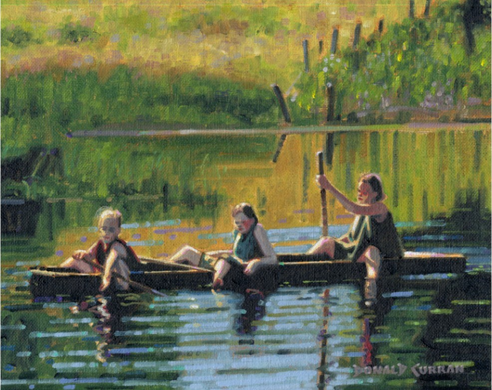 """""""Lazy Afternoon"""" original fine art by Donald Curran"""