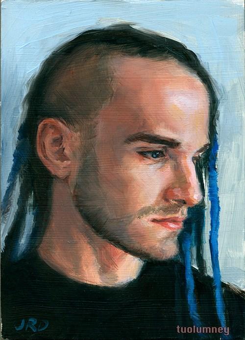 """Blue Dreads"" original fine art by J. Dunster"