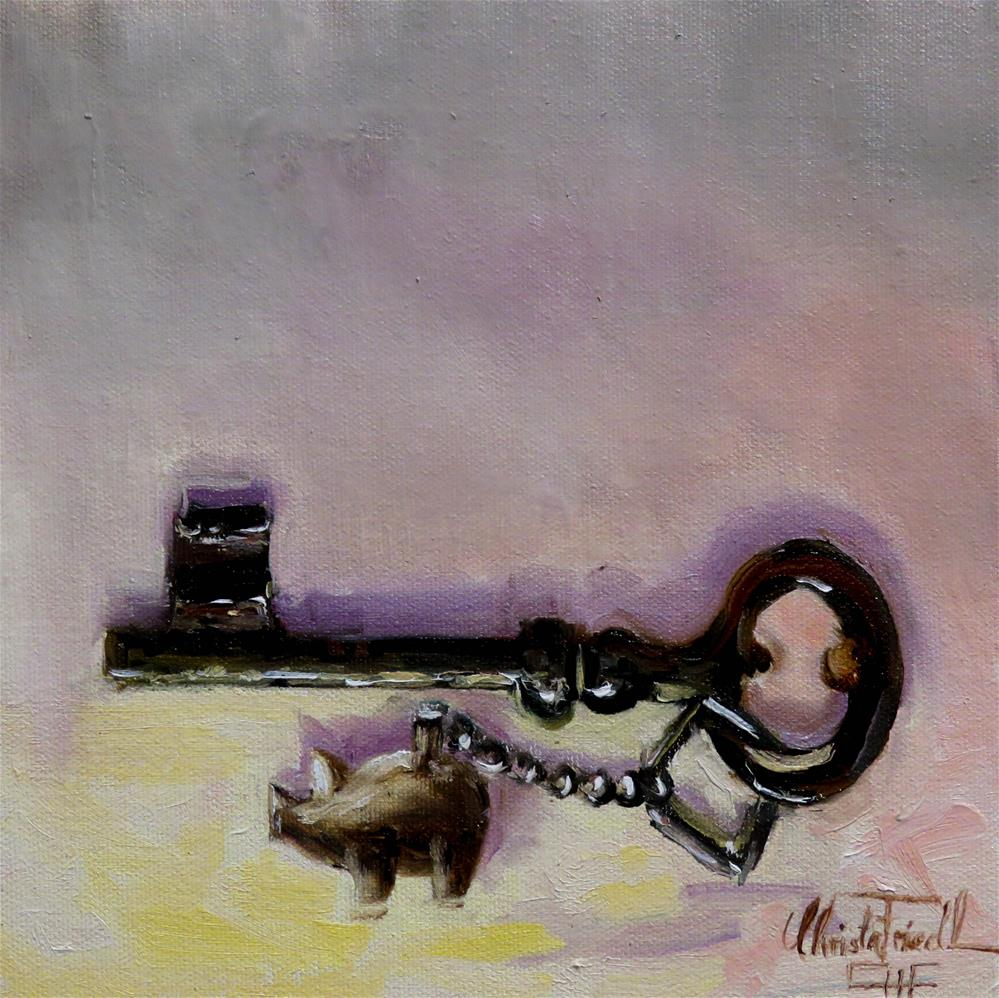 """The key to luck"" original fine art by Christa Friedl"