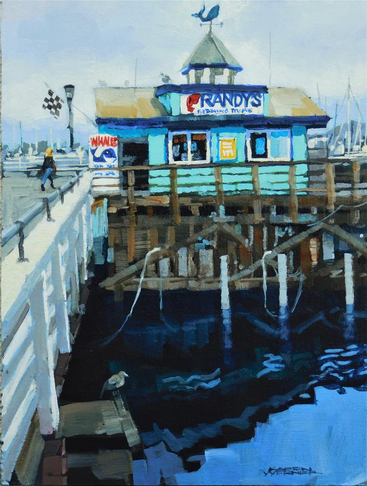 """""""Randy's Whale Tours"""" original fine art by Karen Werner"""