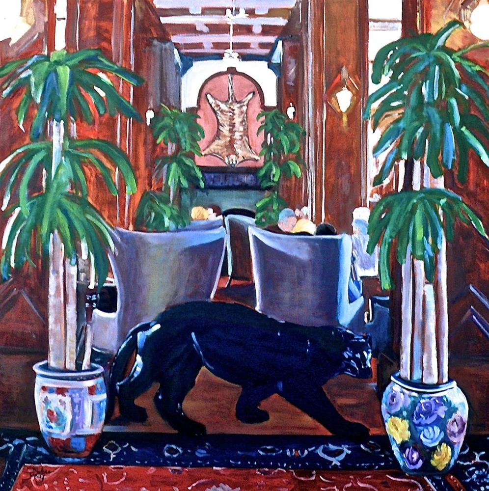 """662 Bengal Lounge"" original fine art by Darlene Young"