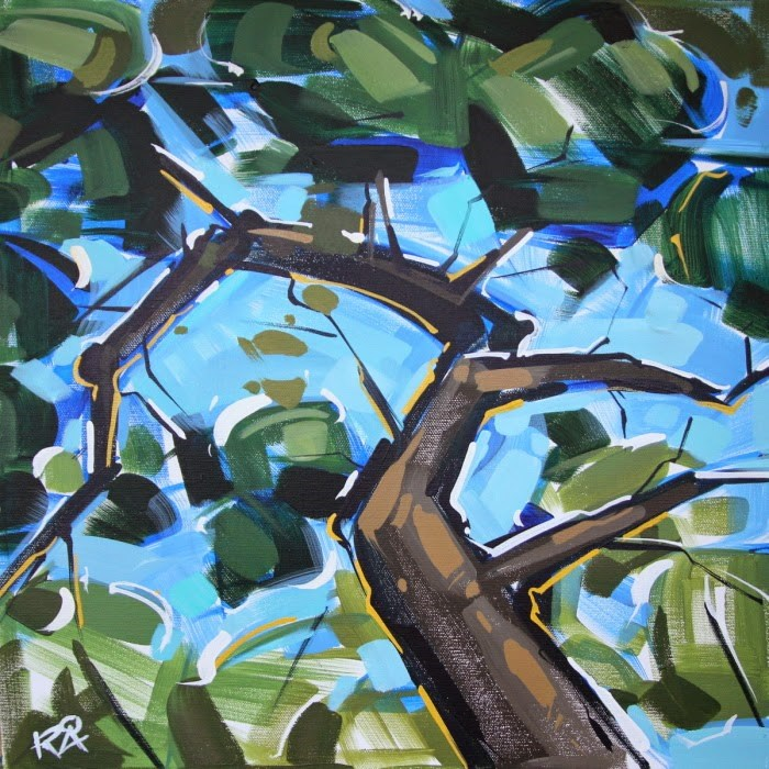 """""""Tree Abstraction 58"""" original fine art by Roger Akesson"""