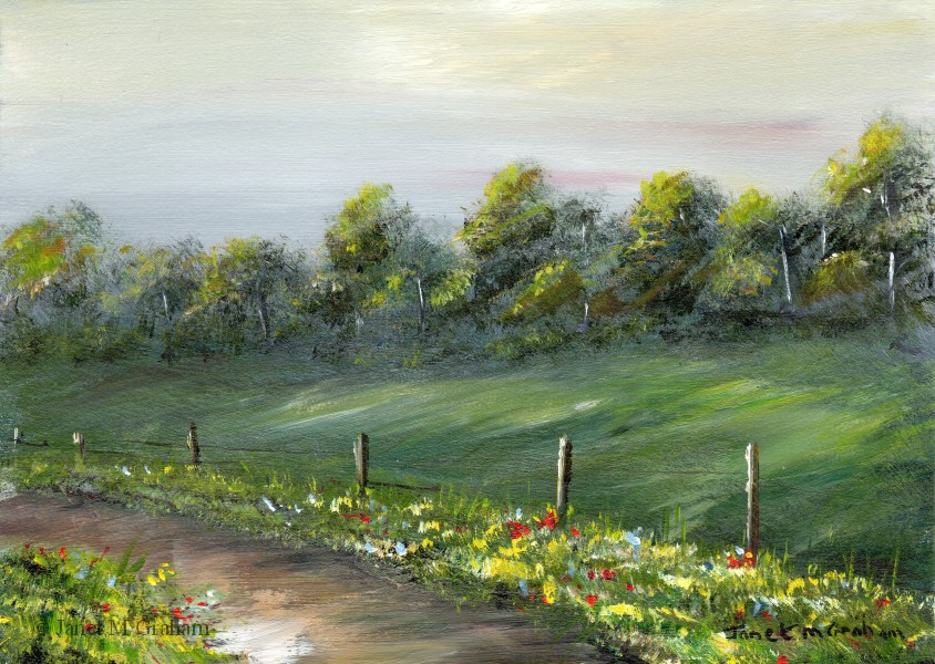 """Country Lane No 2"" original fine art by Janet Graham"