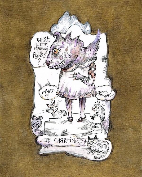 """Charming"" original fine art by Theresa Taylor Bayer"