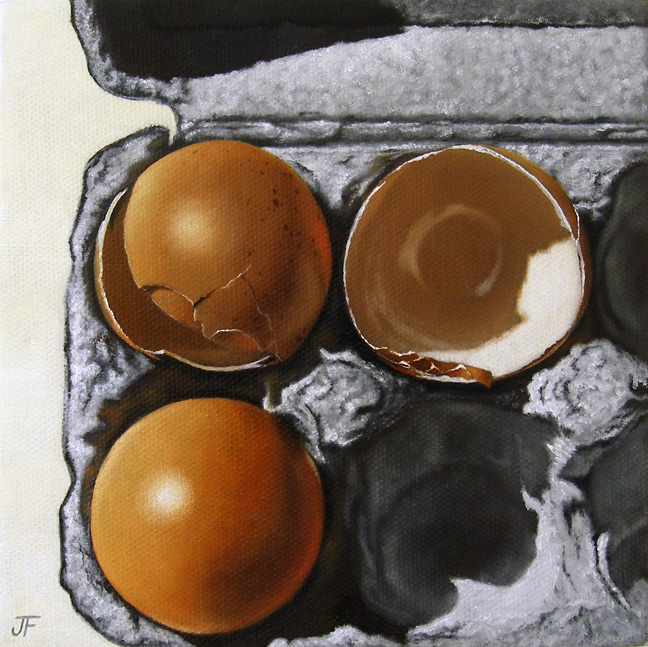 """Eggshell Study: Odd Man Out"" original fine art by Jelaine Faunce"