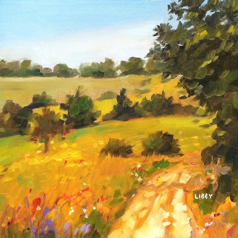 """Out in the Country"" original fine art by Libby Anderson"