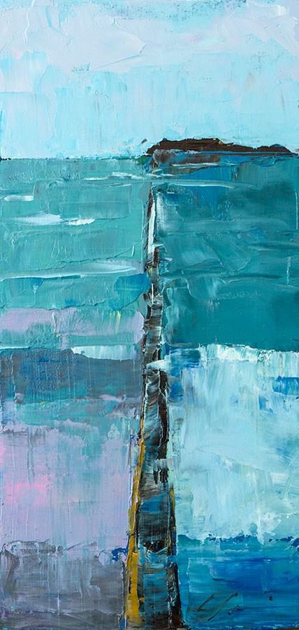 """""""Seawall Sunset"""" original fine art by Clair Hartmann"""