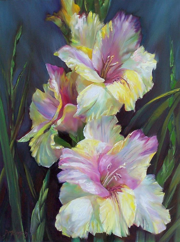 """""""Gladiolus"""" original fine art by Donna Munsch"""