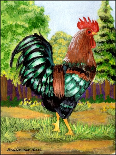 """Struttin His Stuff"" original fine art by Patricia Ann Rizzo"