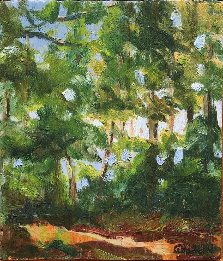 """Through the Trees, No. 2"" original fine art by Shari Goddard Shambaugh"
