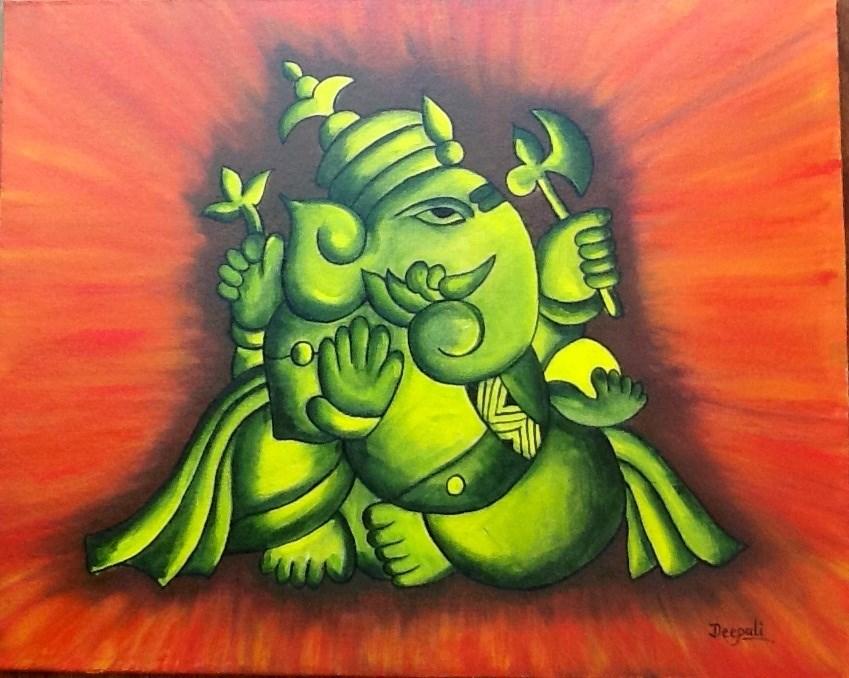 """Ganesha"" original fine art by Dipali Rabadiya"