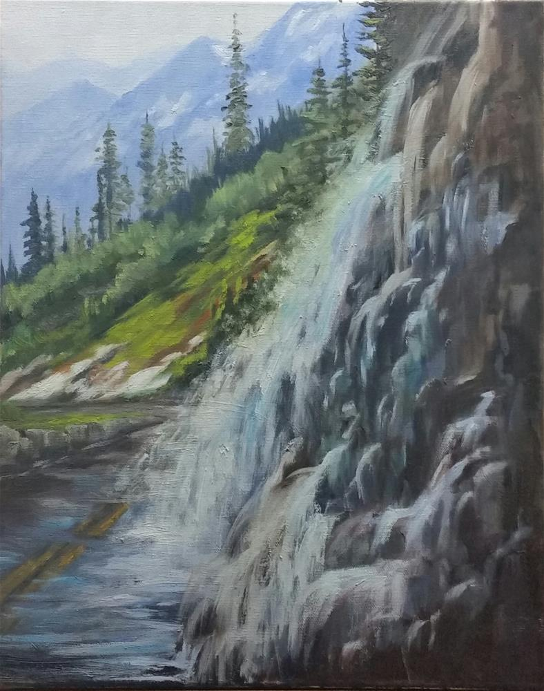 """Weeping Wall"" original fine art by Veronica Brown"
